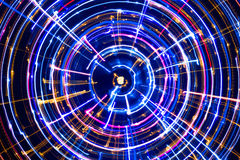 Multicolored Glowing Electric Circle Stock Photography