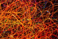 Multicolored Glowing Festive Lines as Background Royalty Free Stock Photo