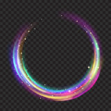 Multicolored glowing fire rings with glitters Royalty Free Stock Photo
