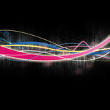 Multicolored Glowing Lines on Black Royalty Free Stock Photos