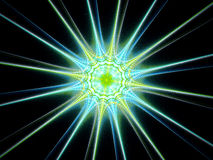 Multicolored glowing star fractal space object Stock Photo