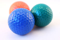 Multicolored Golf Balls Royalty Free Stock Photo