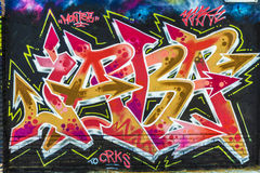Multicolored graffiti Royalty Free Stock Photos