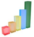 Multicolored grafiekgroei stock illustratie