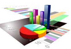 Multicolored graph Royalty Free Stock Images