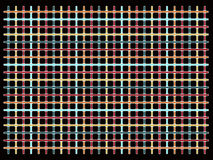 Multicolored grid on black Royalty Free Stock Photography