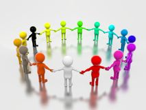 Multicolored Group Royalty Free Stock Images