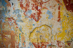 Multicolored grunge wall Royalty Free Stock Photo