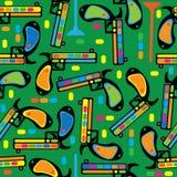 Multicolored gun toy seamless pattern Stock Photo