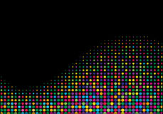 Multicolored halftone wave Royalty Free Stock Photography