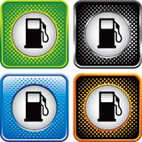Multicolored halftone web buttons of gas pumps Stock Photo