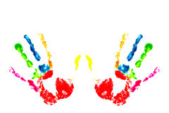 Multicolored hand print Stock Image