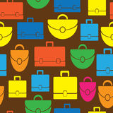 Multicolored handbags icons of seamless Royalty Free Stock Photography