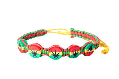 Multicolored handmade bracelet Royalty Free Stock Photo