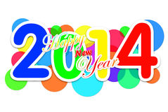 2014 Multicolored. 2014 Happy new year many colors Royalty Free Stock Photo