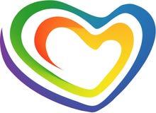 Multicolored heart. Multicolored abstract vector heart, rainbow Stock Photos