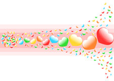 Multicolored heart background Royalty Free Stock Photo