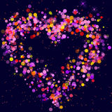 Multicolored heart Royalty Free Stock Image