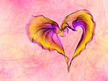 Multicolored heart lovely grunge background Royalty Free Stock Photos