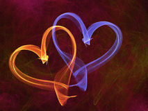 Multicolored heart lovely grunge background Stock Photos