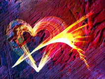 Multicolored heart lovely grunge background Royalty Free Stock Photography