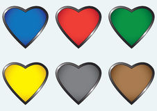 Multicolored hearts Stock Photography