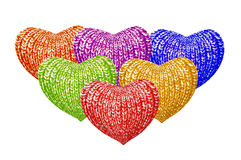 Multicolored hearts Royalty Free Stock Photo
