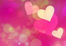 Multicolored hearts bokeh background of a Love symbol Royalty Free Stock Images