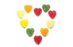 Multicolored hearts candy Stock Photography