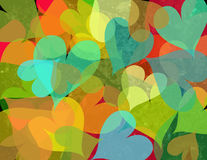 Multicolored hearts. Translucent colored hearts in different colors Stock Illustration