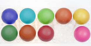 Multicolored hen's eggs Royalty Free Stock Image