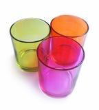 Multicolored het drinken glazen Stock Afbeeldingen