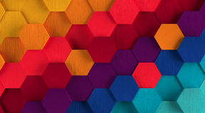 Multicolored Hexagon Background Stock Images