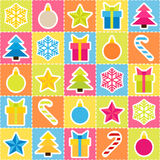 Multicolored holiday background. Seamless pattern Royalty Free Stock Photography