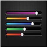 Multicolored horizontal sliders to adjust. Royalty Free Stock Image