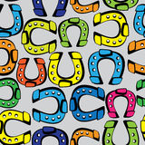 Multicolored horseshoe seamless pattern Stock Photography