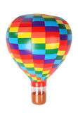 Multicolored hot-air balloon toy isolated Stock Images