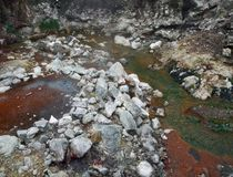 Multicolored hot spring Stock Image