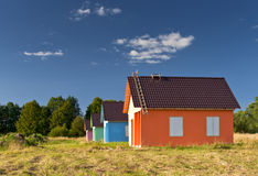 Multicolored houses Royalty Free Stock Photography