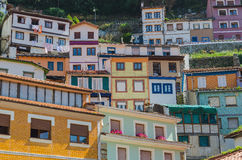Multicolored houses in cudillero Royalty Free Stock Photo