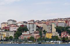 Multicolored houses of Istanbul Stock Photos