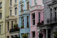 Multicolored houses in Notting Hill, London Stock Image