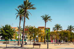 Multicolored houses of Villajoyosa town. Costa Blanca. Spain Royalty Free Stock Image