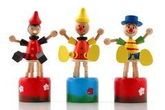 Multicolored houten mannequins Stock Afbeelding