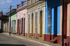 Multicolored huizen Stock Afbeeldingen