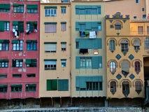 Multicolored huizen in Girona, Catalonië, Spanje Royalty-vrije Stock Fotografie