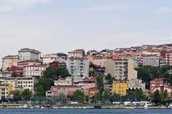 Multicolored huizen van Istanboel Stock Foto's
