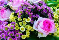 Multicolored Huwelijksboeket Royalty-vrije Stock Afbeeldingen