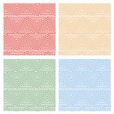 Multicolored Hypnotic Background Seamless Pattern. Stock Photography