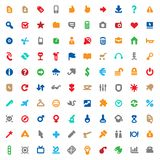 Multicolored icons and signs Stock Photos